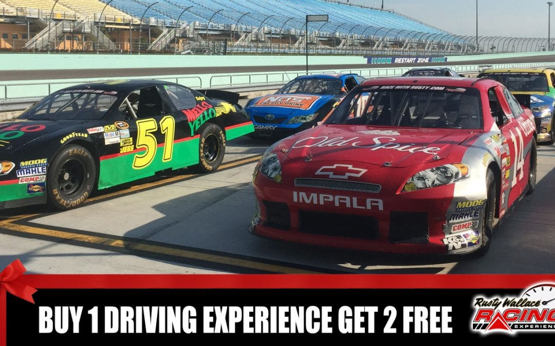 EXTENDED – Buy 1 Driving Experience GET 2 FREE! Good for all 2017 & 2018 Tracks & Dates