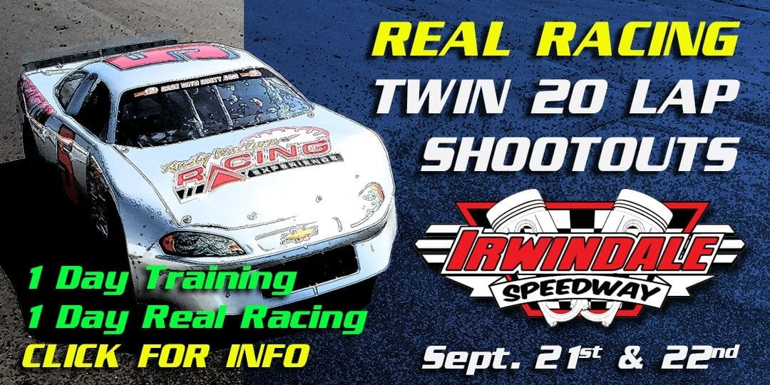 REAL Racing Experience – 2 Day Event at Irwindale Speedway Sept. 21st & 22nd