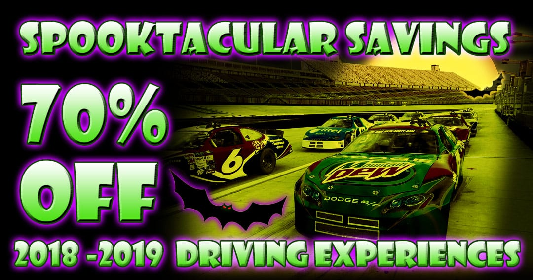 Spooktacular Savings! For a Limited Time -70% OFF Driving Experiences!