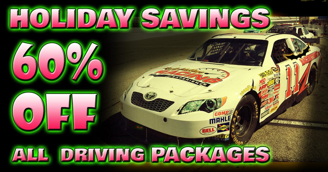 Holiday Savings! For a Limited Time -60% OFF Driving Experiences!