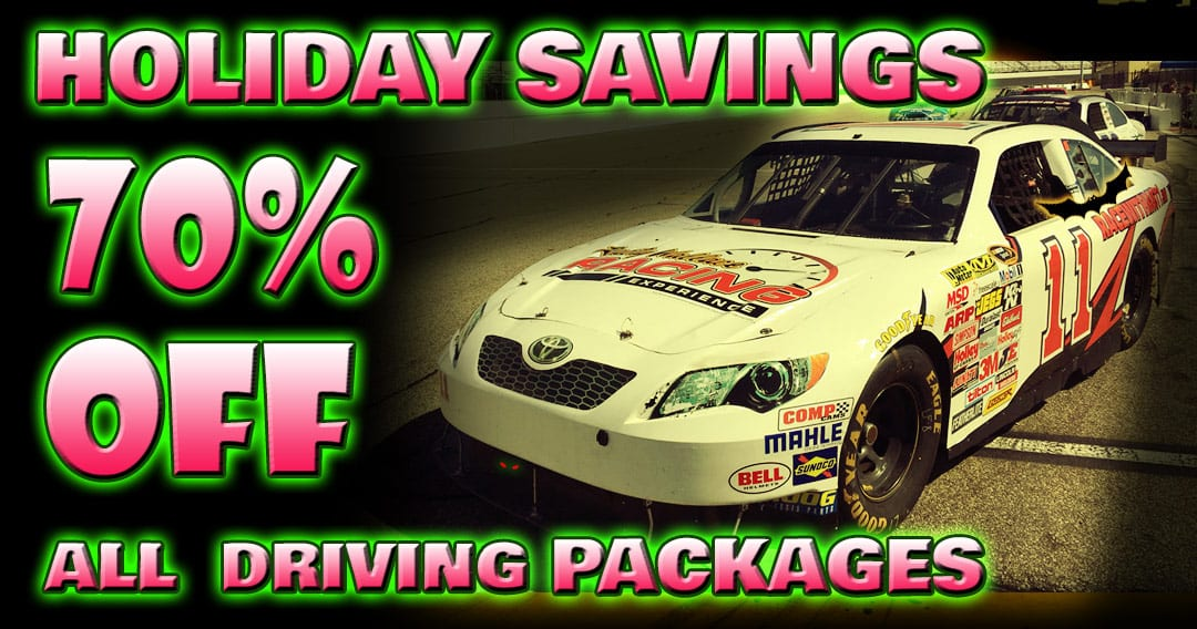 Holiday Savings! For a Limited Time -70% OFF Driving Experiences!