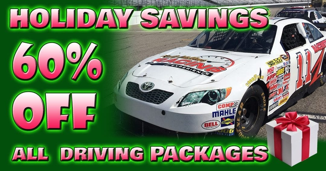 Holiday Savings! 60% OFF All Super Speedway Track Driving Experiences!